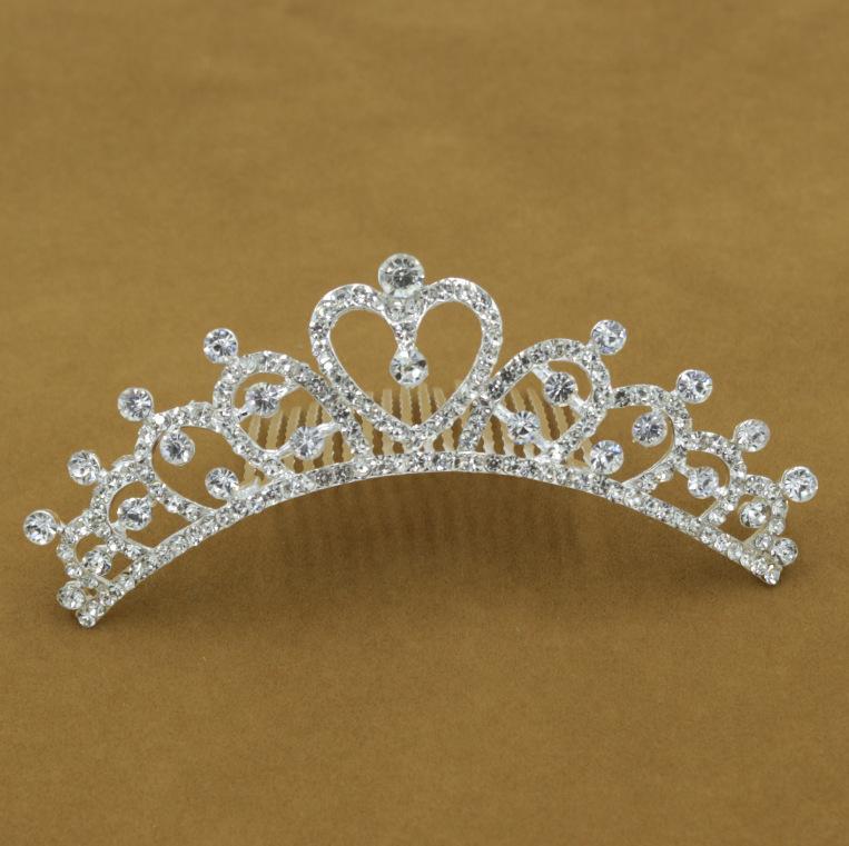 DHL Frete Grátis Moda Noiva Coroa de cristal brilhante diamante tiara de Casamento Do Cabelo Jóias ligas pentes acessórios para o cabelo
