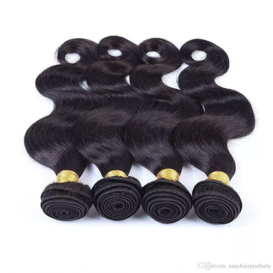 La migliore qualità vergine brasiliana del corpo dei capelli umani di Remy del Virgin il doppio trama di trama dei capelli dei capelli di G-EASY