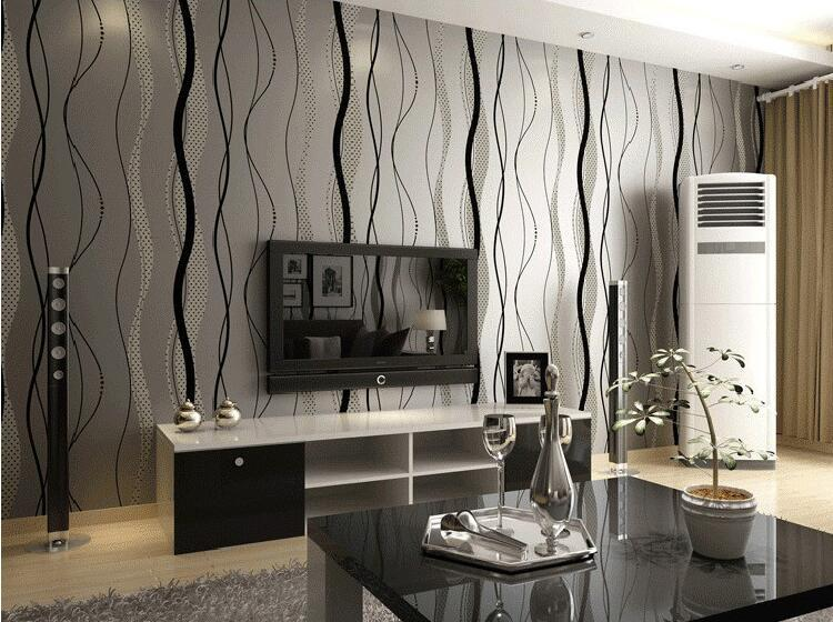 Wavy Stripes Modern 3d Wallpaper For Walls, Striped Wall Paper For Bedroom, 3d Papel De Parede Listrado Flower Wallpapers Flowers Wallpapers From  Dyyhccl, ...