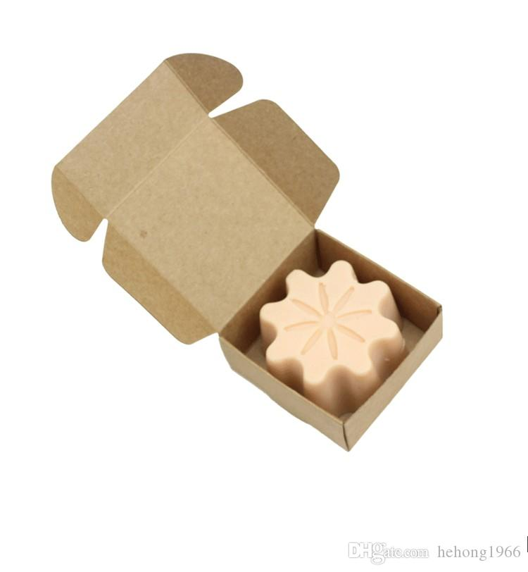65*65*30mm Foldable Mini Cardboard Box Eco Friendly Kraft Paper Package Boxes Hand Made Soap Containers Top Quality 0 35nx KK