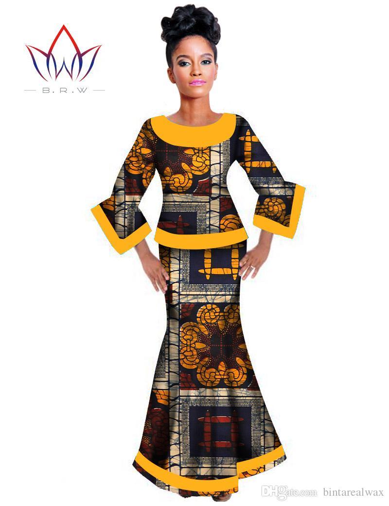Women Dress Fishtail Skirt African Clothing Private Custom Made ...
