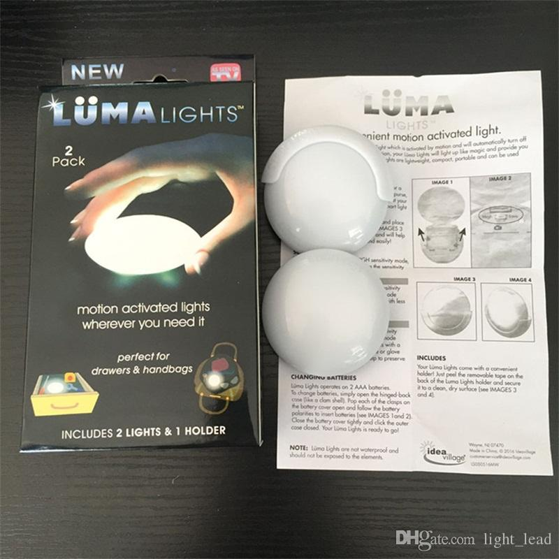 Multi Function Portable Luma Lights Cabinet Car Touch Light Induction Night Light Round Bags Lights Voice Sensor