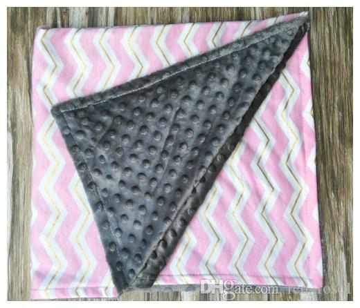 Dot chevron Cotton Swaddleme Baby Minky Wrap Swaddling Blanket Newborn Infant Swaddle Towel Famous Multifunctional