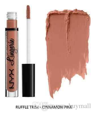 DHL free New Matte NYX lipgloss NYX Lip Lingerie Liquid Lipstick 12 Shades Brand New Lips Makeup