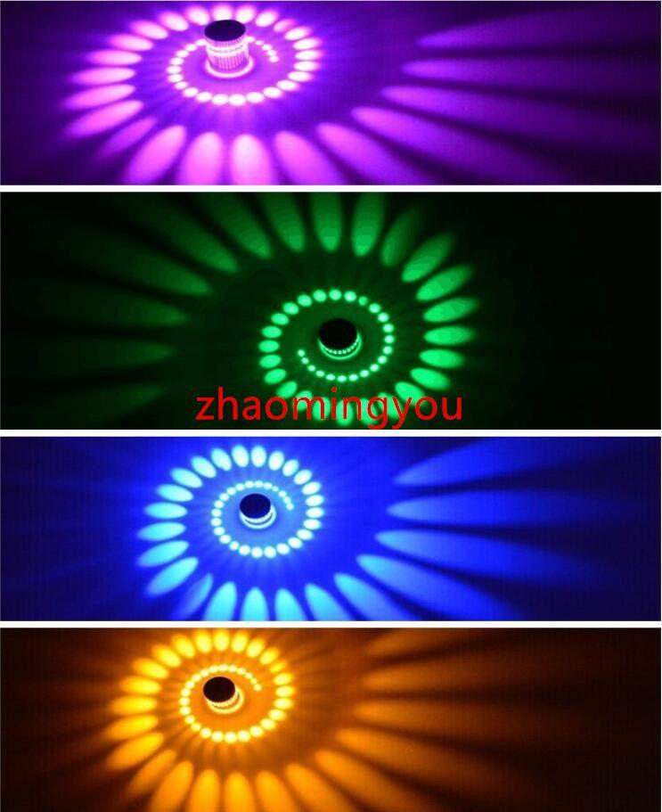 Современные 3 Вт RGB Светодиодный Настенный Светильник 85-265 В 110 В / 220 В КТВ Караоке Бар Украшения LED Настенные Светильники Для Гостиной Ресторан Кафе