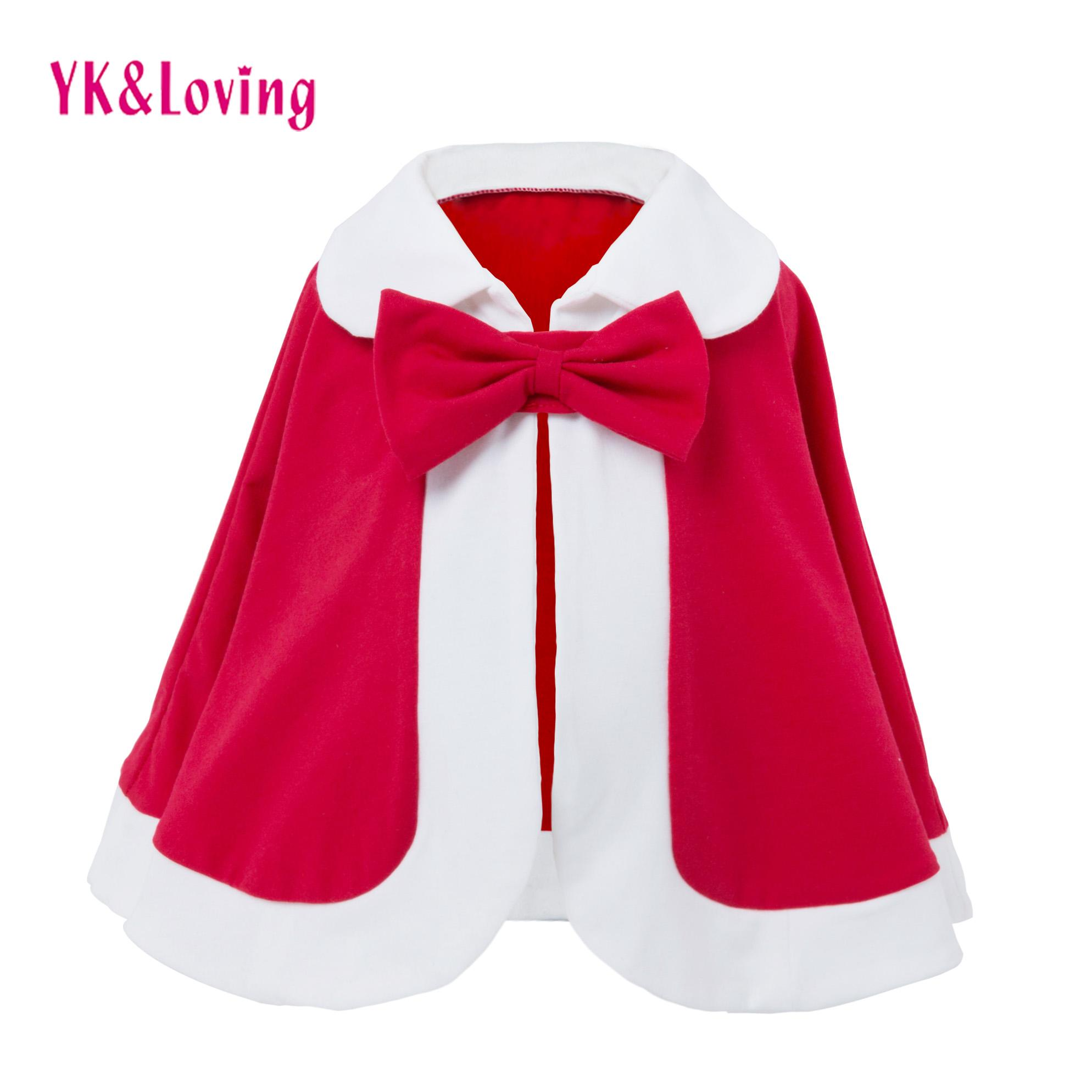 Girls Autumn Winter Cloak Baby Coat 2018 New Year Clothes Christmas