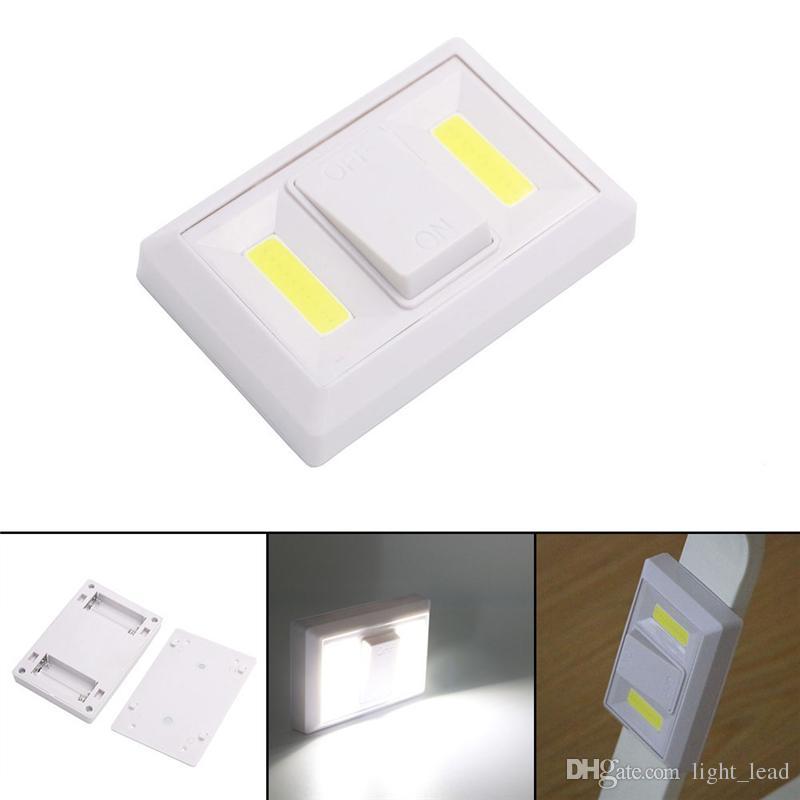 Grosshandel Neue Cob Schalter Nachtlicht Led Batteriebetriebene Lampe
