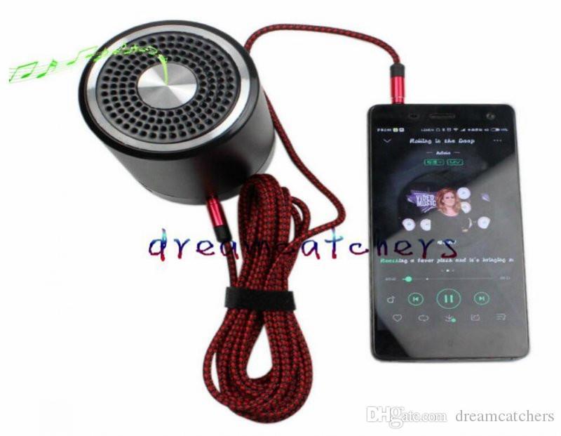 Kırılmaz Metal Naylon Yuvarlak Braiede Ses Kablosu 1.5 M 3 M 3.5mm Erkek Stereo Yardımcı AUX Uzatma Cep telefonu MP3 Hoparlör Tablet PC için