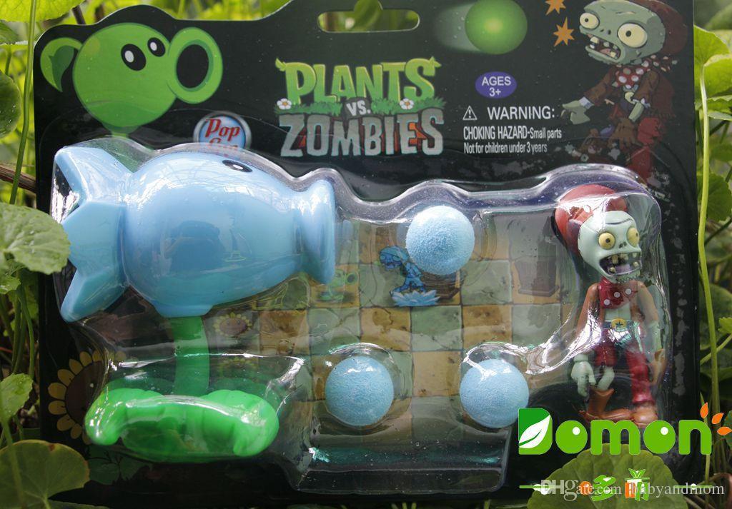 New Hot Plants vs Zombies Figure Toys Gatling Pisello PVC Shooting Doll PVZ Toys 17 stili le scelte