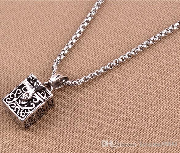 Memorial Love Ash urn pet Jewelry High quality Stainless Steel vintage Tibetan Box Pendant Cremation Ash Urn Locket Necklace Urns Jewelry