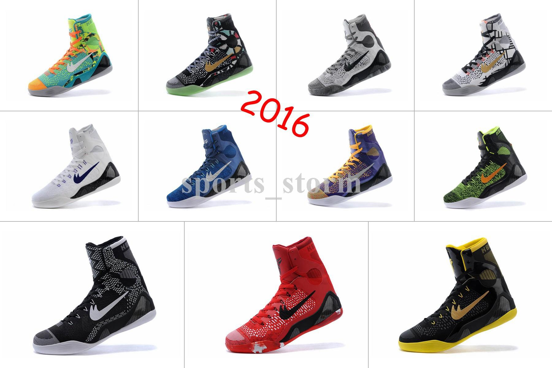High Quality 2016 Hot New Generation Of Kobe Bryant Basketball Shoes 9 High  Top Sneakers Boots Summer Size:40 46 Kevin Durant Basketball Shoes  Basketball ...