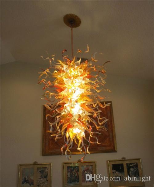 Moderno Cristal Colgante grande estilo europeo lámparas ambarinas Murano lámpara de cristal para la decoración del hotel con alta calidad, LR1118