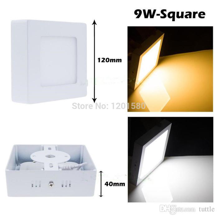 Ücretsiz kargo 9 W / 15 W / 25 W Yuvarlak / Kare Led Panel Işık Yüzeye Monte Downlight aydınlatma Led tavan aşağı AC 110-240 V + Sürücü