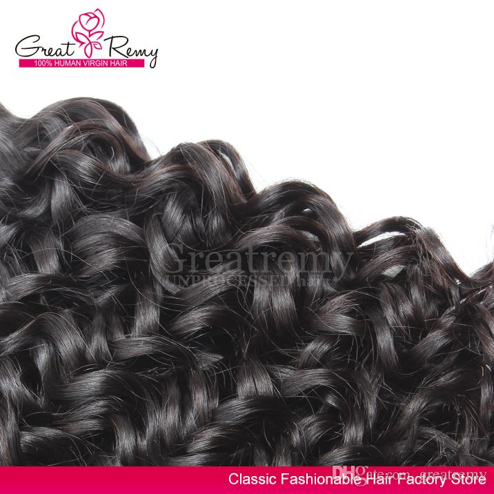 Greatremy® 8A Water Wave Brazilian Hair Extension Big Curly 100% Unprocessed Virgin Human Hair Bundle Dyeable Ocean Hair Weave Weft
