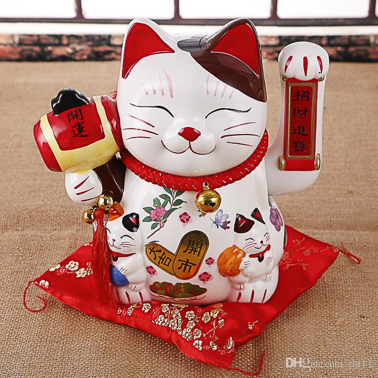 The ceramic rocker of the 10 - inch fortune cat home for the opening of a wedding shop birthday creative gift set