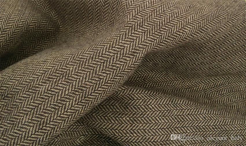 Británico de lana marrón chaleco de tweed traje de los hombres Slim fit chaleco de novio Vintage boda chaleco UniqueMens vestido chaleco más tamaño