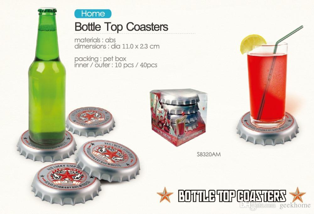 wholesale creative Kitchen Utensils Beer bottle cap Design Coaster beer bottle cap Coasters bath mat Insulation pad diameter 11cm