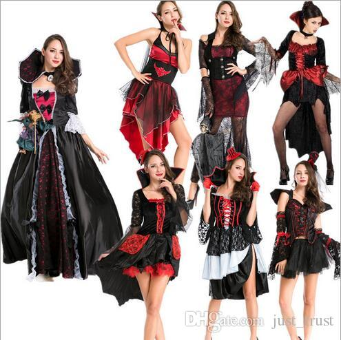2016 Sexy Pretty Stagewear V&ires Women Dresses Halloween Queen Ghost Le V&ire Movie Theme Costumes Bloodsucker Roleplay Women V&ires Dresses ...  sc 1 st  DHgate.com & 2016 Sexy Pretty Stagewear Vampires Women Dresses Halloween Queen ...