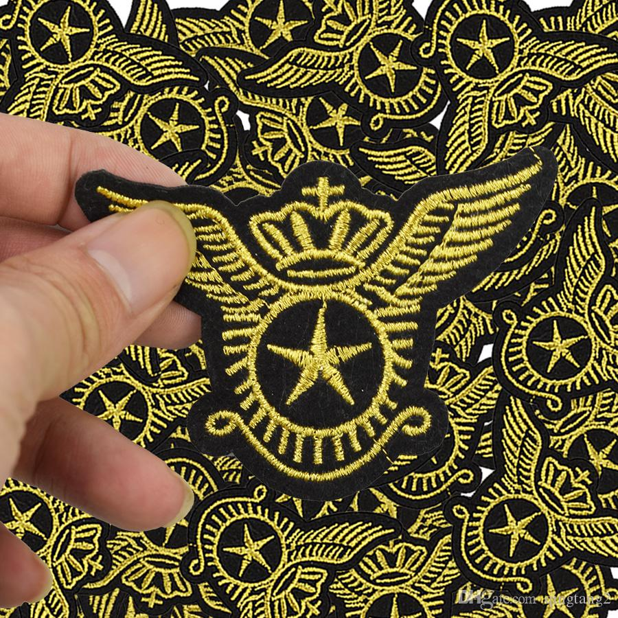 star wings badge embroidery patches for clothing iron patch for clothes applique sewing accessories on stickers cloth iron on patches