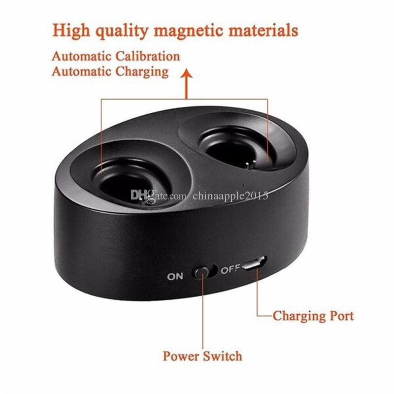 TWS K2 Wireless Twins Bluetooth Mini Stereo in-ear Earphone for Samsung S8 Edge iPhone 6 7 8 Headphone with Charging Socket Headset