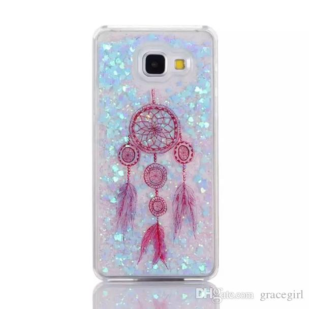 Dreamcatcher Quicksand Star Hard Case For Samsung Galaxy A310 A510 Grand Prime G530 S5 S6 Edge NOTE3 NOTE4 NOTE5 Liquid Bling Fashion Cover