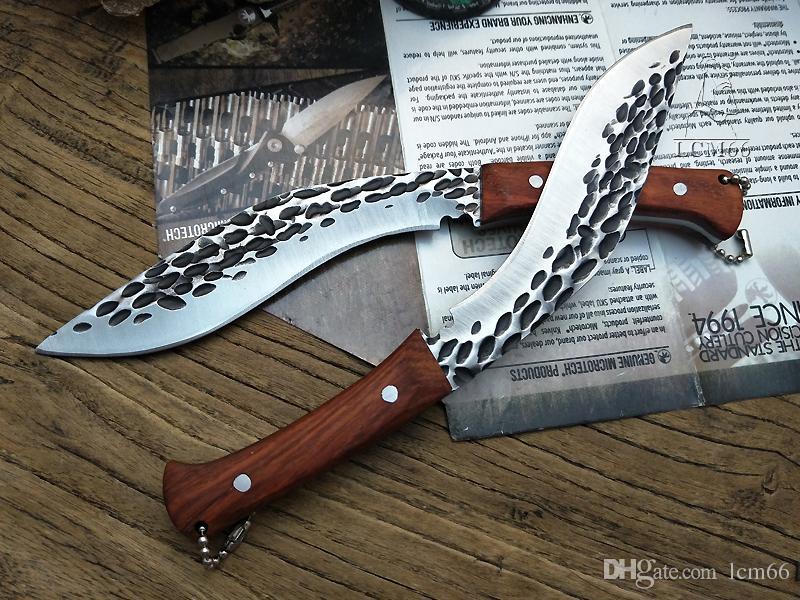 Nueva forja Nepal mini machete Full Tang Survival Kukri Machete Bowie Knife VTH88 Cuchillo de hoja fija Acampar al aire libre Mini cuchillo afilado