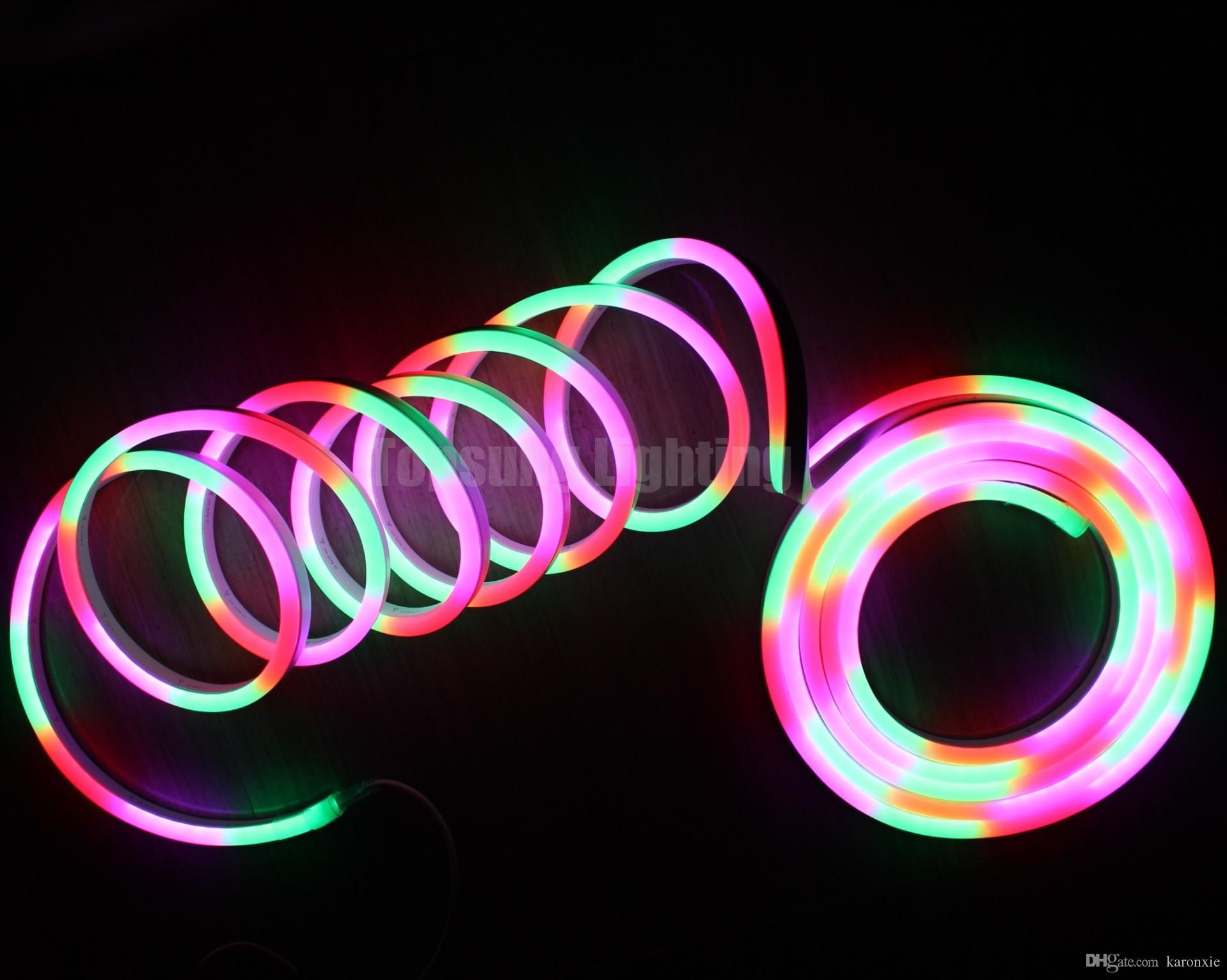 10m reel magic 24v led digital dynamic neon flex 60smd m dmx 512