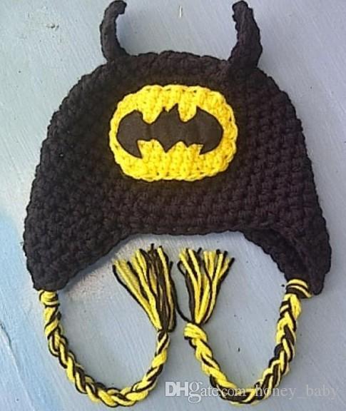 Captain America Superman Spider-man Iron man Batman Super Hero Crochet Knitted Cap Infant Toddler Kid Hat Christmas Children Beanie Headgear