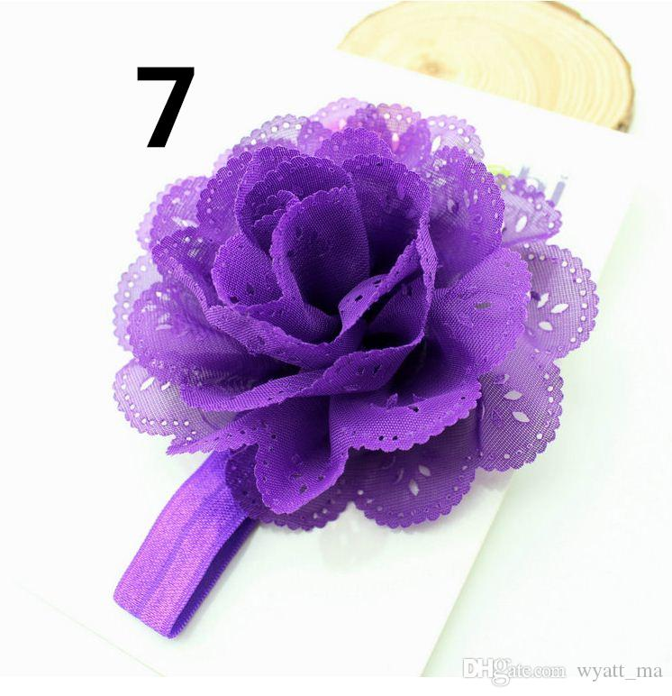 Europeus e Americanos crianças cocar flor de milho bebê elástico hairband headband do bebê oco onda borda elegante faixa de cabelo do bebê