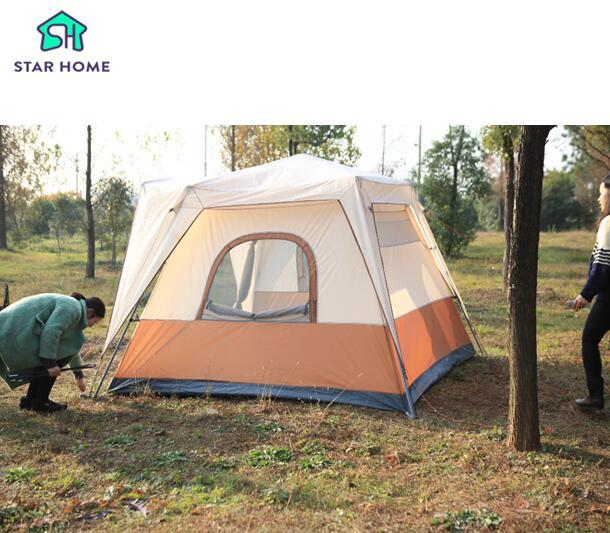 Wholesale Star Home Family Tent Large For 5 8 Person Hydraulic Automatic Easy Set Up Waterproof Family C&ing Tent Dog Shelters Shelter Charity From ...  sc 1 st  DHgate.com & Wholesale Star Home Family Tent Large For 5 8 Person Hydraulic ...