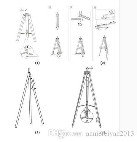 Promoção Iluminação interior Spart Parts Acessórios Candeeiros de mesa Candeeiros de mesa Candeeiro de chão Lâmpadas de chão Tripé de madeira / Triângulo Candeeiros de lâmpadaBase
