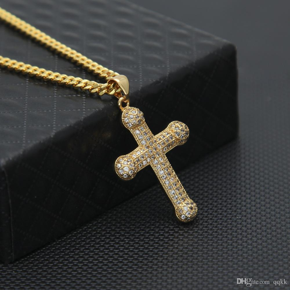 Wholesale fashion mens hip hop cuban link chain aaa cubic zirconia wholesale fashion mens hip hop cuban link chain aaa cubic zirconia pendants christian cross necklace for men bling jewelry high quality cz necklaces single aloadofball Image collections
