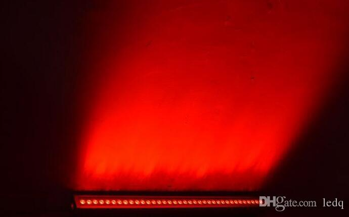 Arandela de pared LED DMX RGB síncrona 24W para iluminación exterior Decoración Exterior Paisaje Lámpara + Controlador DMX512 + Fuente de alimentación