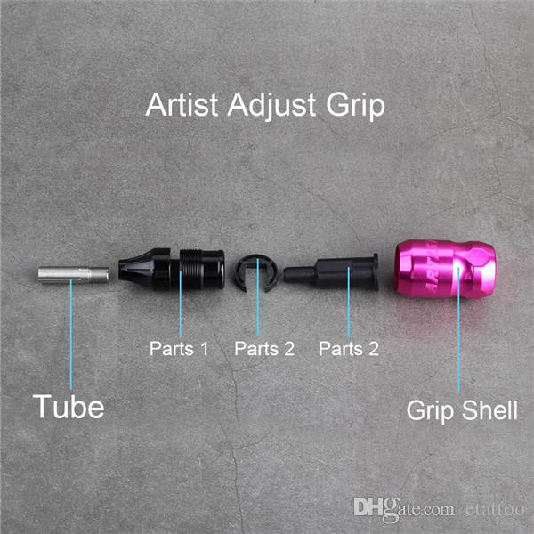 Ferramenta ajustável dos tubos do aperto da máquina da liga de alumínio da tatuagem para a fonte das pontas das agulhas do cartucho