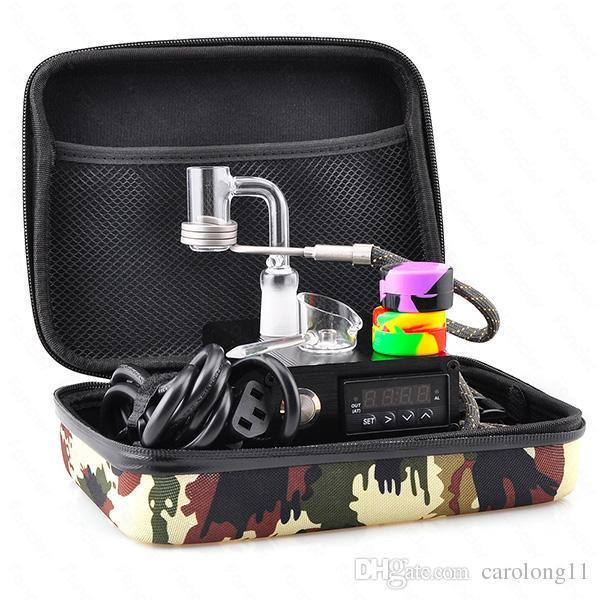 Kit di scatola unghie al quarzo E Dab Electic 14 18 MM femmina maschio al quarzo Chiodo elettrico Dab Kit completo di controllo della temperatura 100 w strumenti di dabber