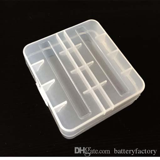Haute Qualité 26650 Blanc Clair E-cigs En Plastique Batterie Case Support De Stockage Conteneur Pack 2 * 26650 pour les batteries de mod mécanique