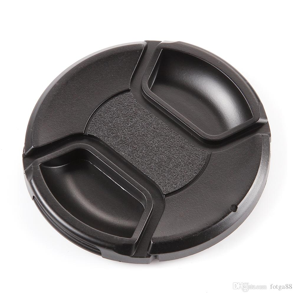 82mm Center Pinch Snap-on Front Cap for Canon Nikon Sony Filter/Lens with String