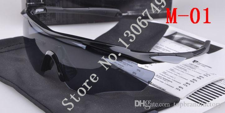 47d65a6fbdcb 2016 Half frame Sunglass Men Brand new M2 M Frame 9212 Outdoor sports  Sunglasses polarized lens bike cycling eyewear for men With Box