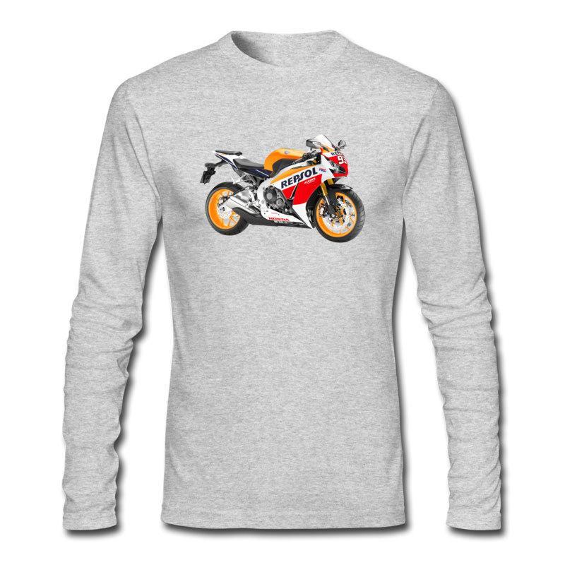T-shirt à manches longues pour hommes de grande qualité, qualité supérieure, colis postaux, tee-shirt à la mode S / M / L et honda repsol, imprimé moto