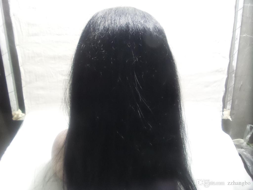 Полные парики шнурка девственница Бразилии полна моего парика шнурка и волос предварительная шелк сотка плотность 150% линий предварительные парики скальпа имитации шелка