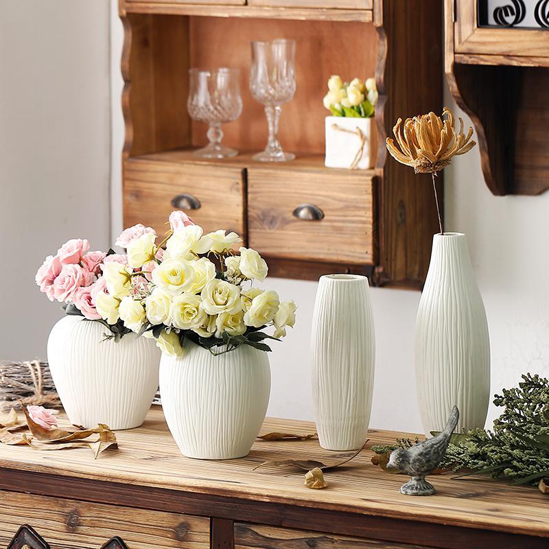 Antique Ceramic Wedding Decorative Vase Modern White Ceramic Vase