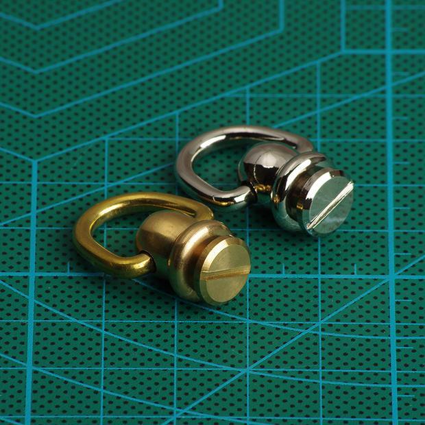 Livraison gratuite 6 pièces en laiton émerillon anneau serrure boucle fait main D anneau sac bagages accessoires sac cintre partie de matériel de bricolage