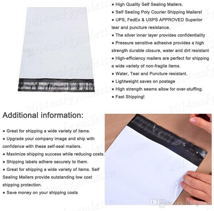 Self Adhesive Seal Postal Bags 25.4*33+4cm Package Envelopes Shipping Strong Poly Mailer Bags Post