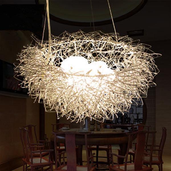 Discount Modern Bird Nest Pendant Lights Art Aluminum Pendant ...