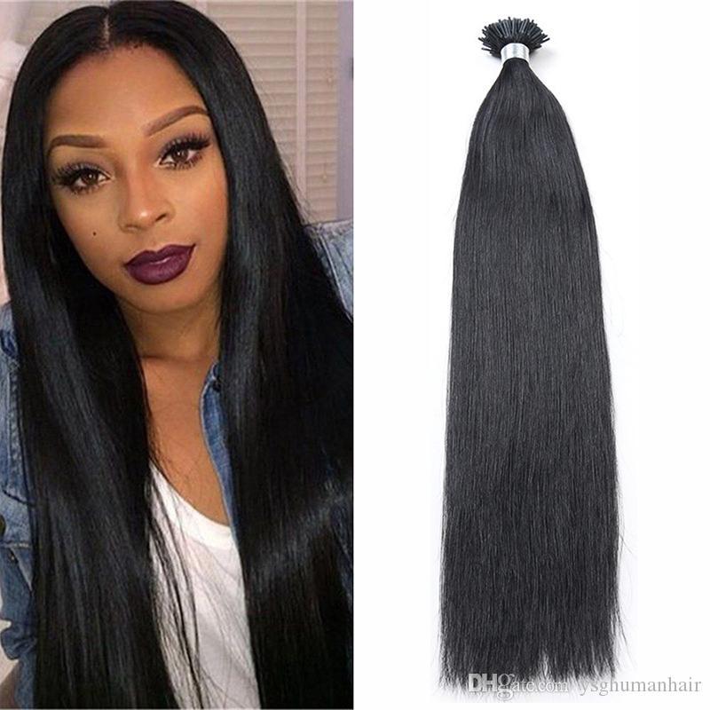 Ysg Remy Hair I Tip Keratin Human Hair Extension Stick Tip Straight