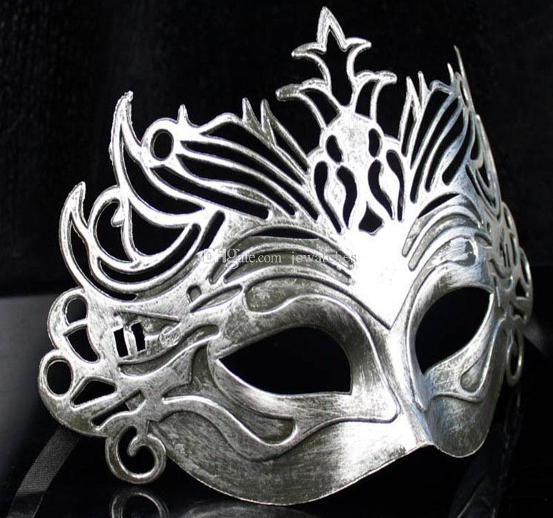 Antike römische Kronen-Maskerade-Masken-Splitter-Goldfarbe-halbe Gesichter-venetianische Mens-Masken-Halloween-Kostüm-Partei-Masken durch DHL geben Verschiffen frei