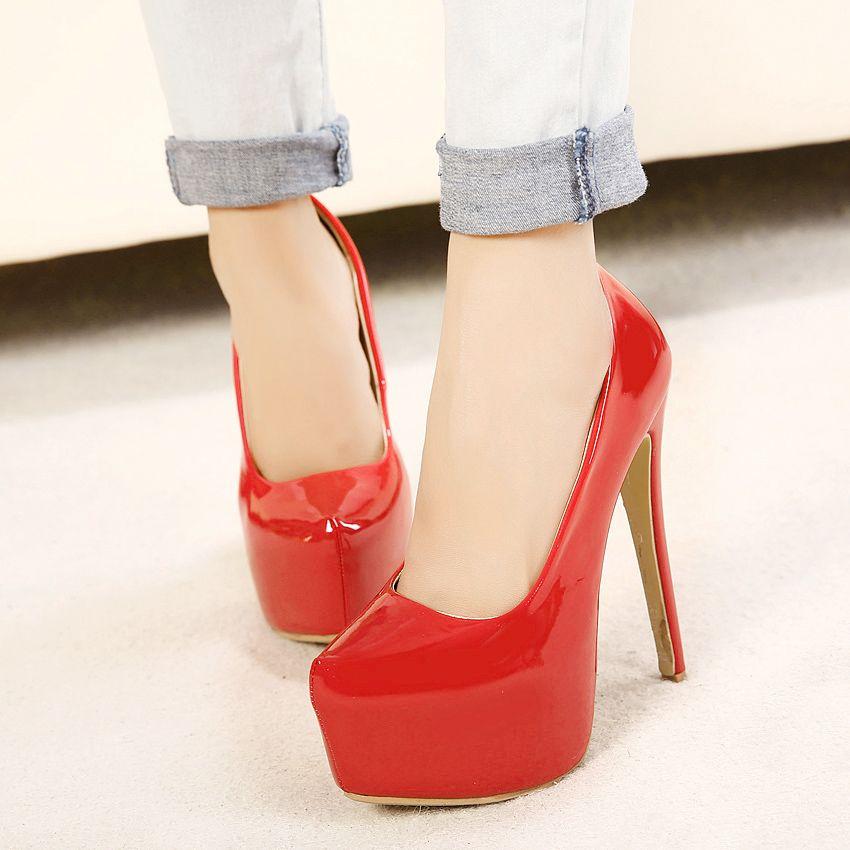 0718441b33e8 New Platform Pumps Women Shoes Ultra High Heels Sexy Bridal Wedding ...