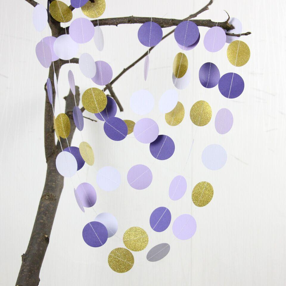 Wedding Decorations, Bridal Shower Decor, Purple And Gold Glitter ...