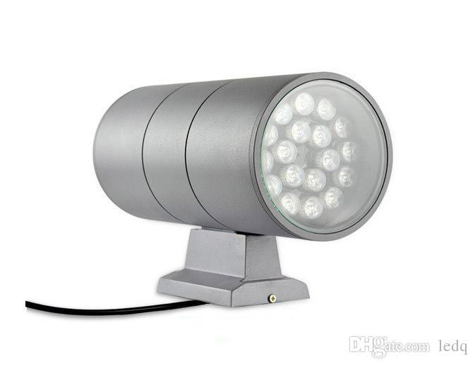 Applique LED 36W UP DOWN Cylindre Aluminium Columbia Extérieur Imperméable IP65 Spot Lampara Rouge Vert Chaud Blanc Chaud Blanc Froid