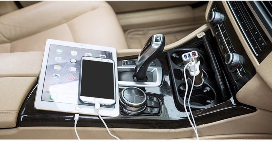 Универсальный Dual USB 2 порта 3100 мАч Автомобильное зарядное устройство сигареты 3.1A Авто адаптер питания Зажигалка Разъем питания Адаптер зарядного устройства